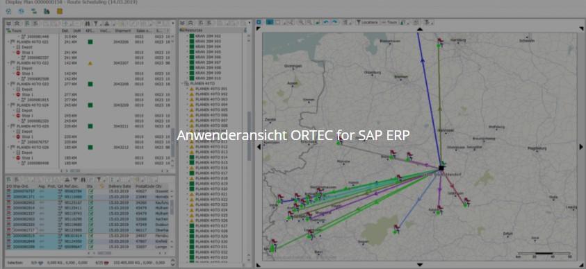SAP Transport-Management und Disposition – ORTEC 3